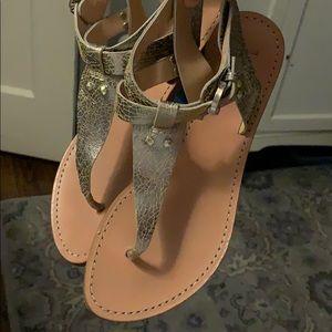 Sigerson Morrison Belle Sandals 70's Style Size 8